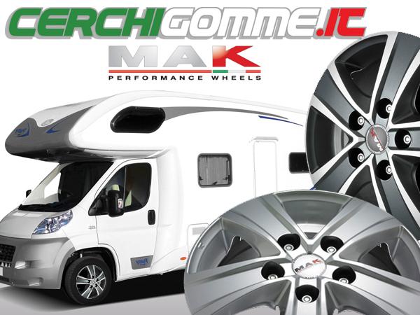 Mak Fuoco 5 e Van 5: i cerchi in lega per camper, SUV e trasporto leggero