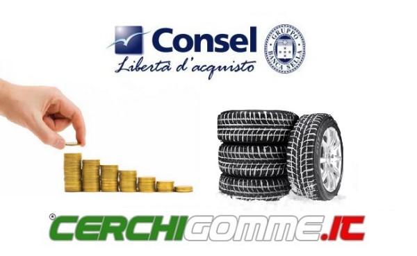 Pneumatici a rate: Cerchigomme.it e Consel Spa per finanziare i tuoi acquisti!
