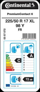 Etichetta Continental Premium Compact 6